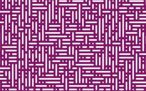 A purple grid-style pattern