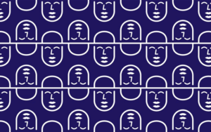Multiple Business Narrative logos on a dark blue background