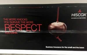 Hiscox advertising on the London Underground