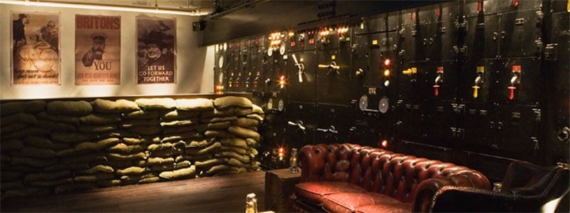 Interior of the Churchill War Rooms