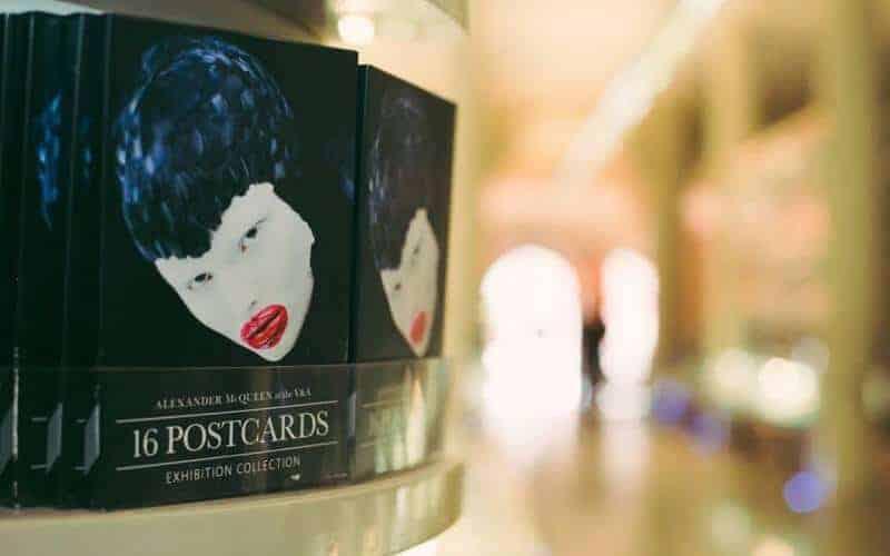 Postcards at the V&A's Alexander McQueen exhibition