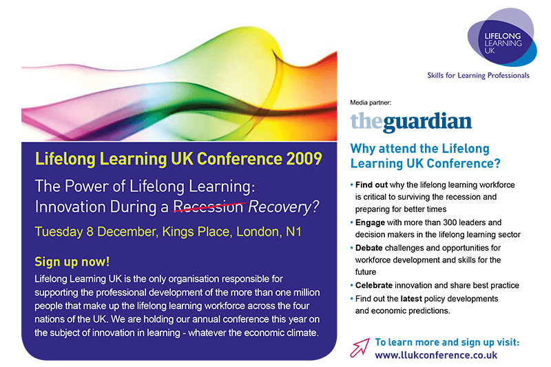 Lifelong Learning UK promotional brochure