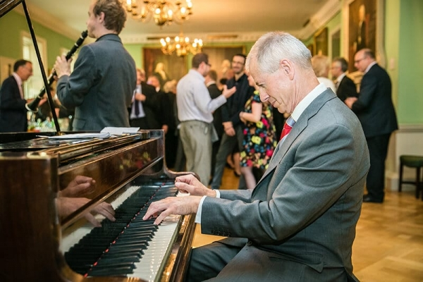 Jazz music performers at the Silk Party at the Foundling Museum, Bloomsbury