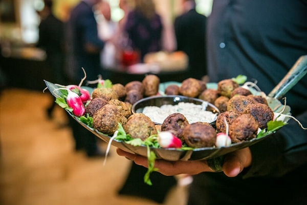 Food at the Silk Party at The Foundling Museum