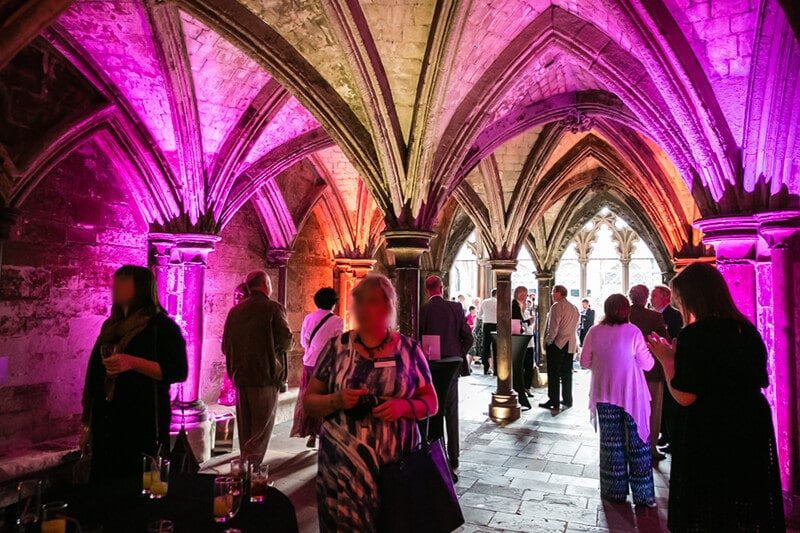 A summer reception at Westminster Abbey, organised by The Business Narrative