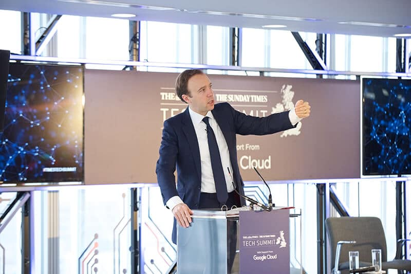 Matt Hancock MP, Minister for Digital, at The Times/Sunday Times Inaugural Tech Summit, London, November 2017